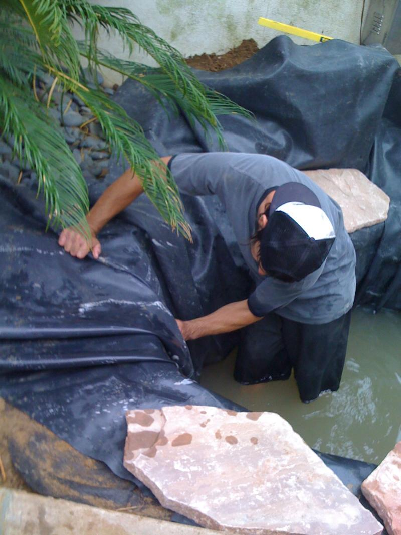 Pond construction, San Diego, Rancho Santa FePonds,